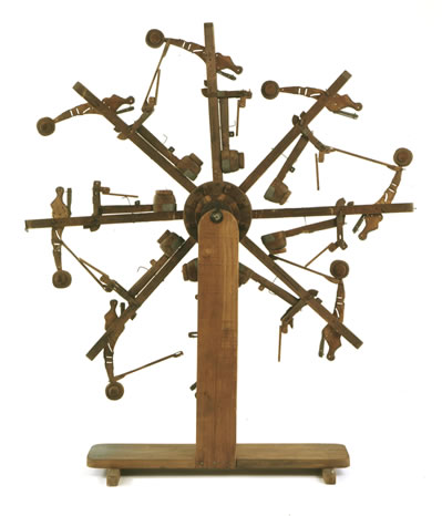 Perpetual motion patent model, c. 1900-1905